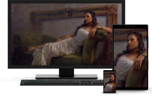 An example of images on multiple devices